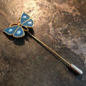 Vintage 70's Butterfly Stickpin